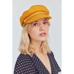 Brixton mustard yellow fisherman's hat